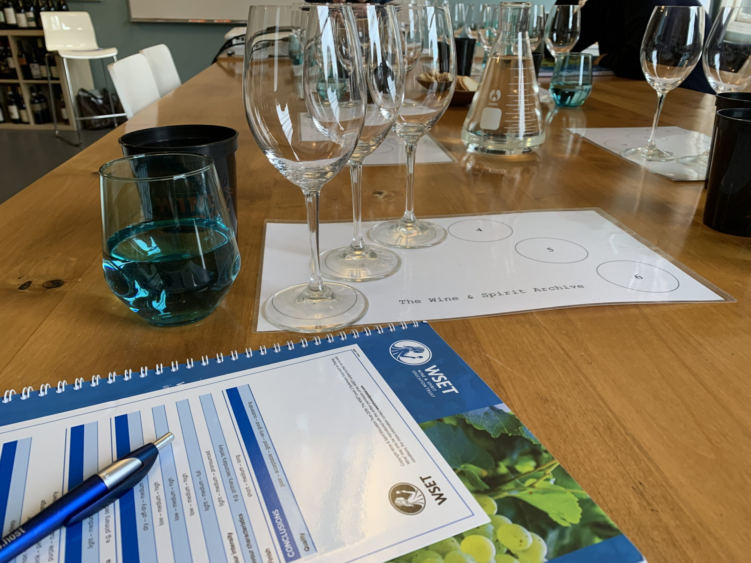 Taking classes to earn my WSET Level 2 Award in Wine
